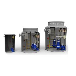 Estação Elevatória de Esgoto Compacta – Acima de 2.000 Litros