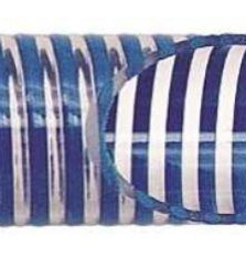 Mangueira Transparente com Espiral Azul (KM)